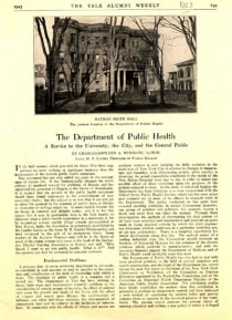 Department of Public Health under Winslow (1915-1945)