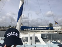 sailboat named the Spirit of Barbados