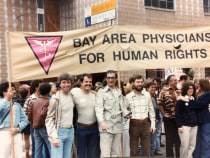 Dr. David R. Kessler and members of the Bay Area Physicians for Human Rights, March 1980.