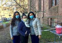 From left to right: Evelyn Cortes (YSN '21), Riana Nicolaysen (YSN '23), and Stephanie Mora-Hernandez (YSN '21)
