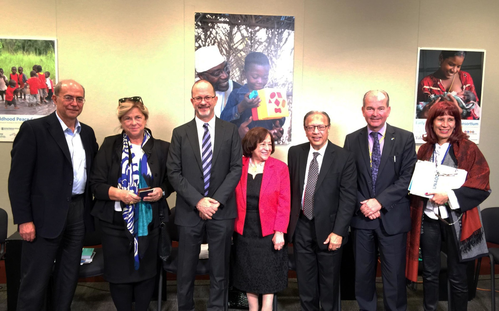 "Event panelists, ""Implementing the Sustainable Development Goals Is Early Childhood Development - A Pathway to Peace?"" UNICEF NY, Oct 2015"