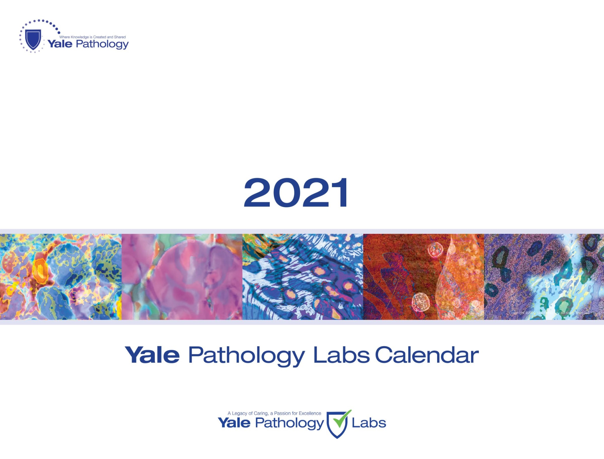 Yale Pathology Labs Calendar 2021 - Front Cover
