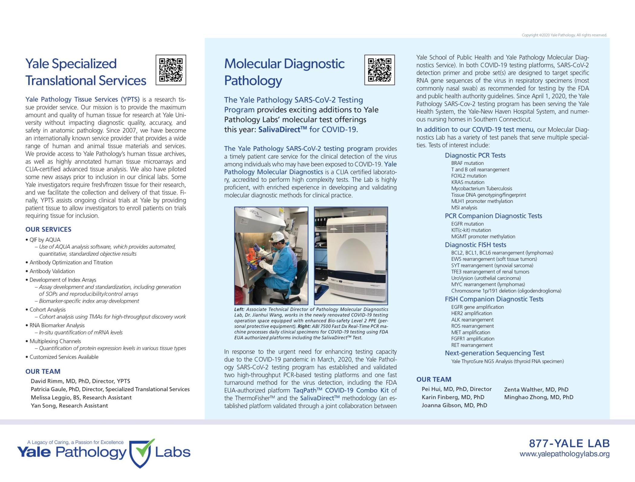 Yale Pathology Labs Calendar 2021 - Clinical Highlights