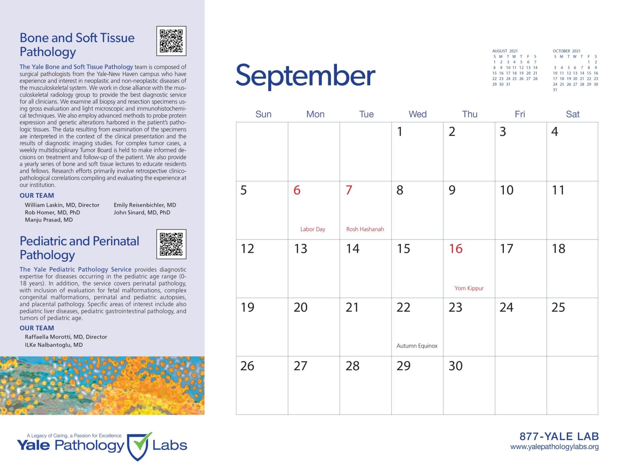 Yale Pathology Labs Calendar 2021 - Bone and Soft Tissue Pathology - Pediatric Pathology