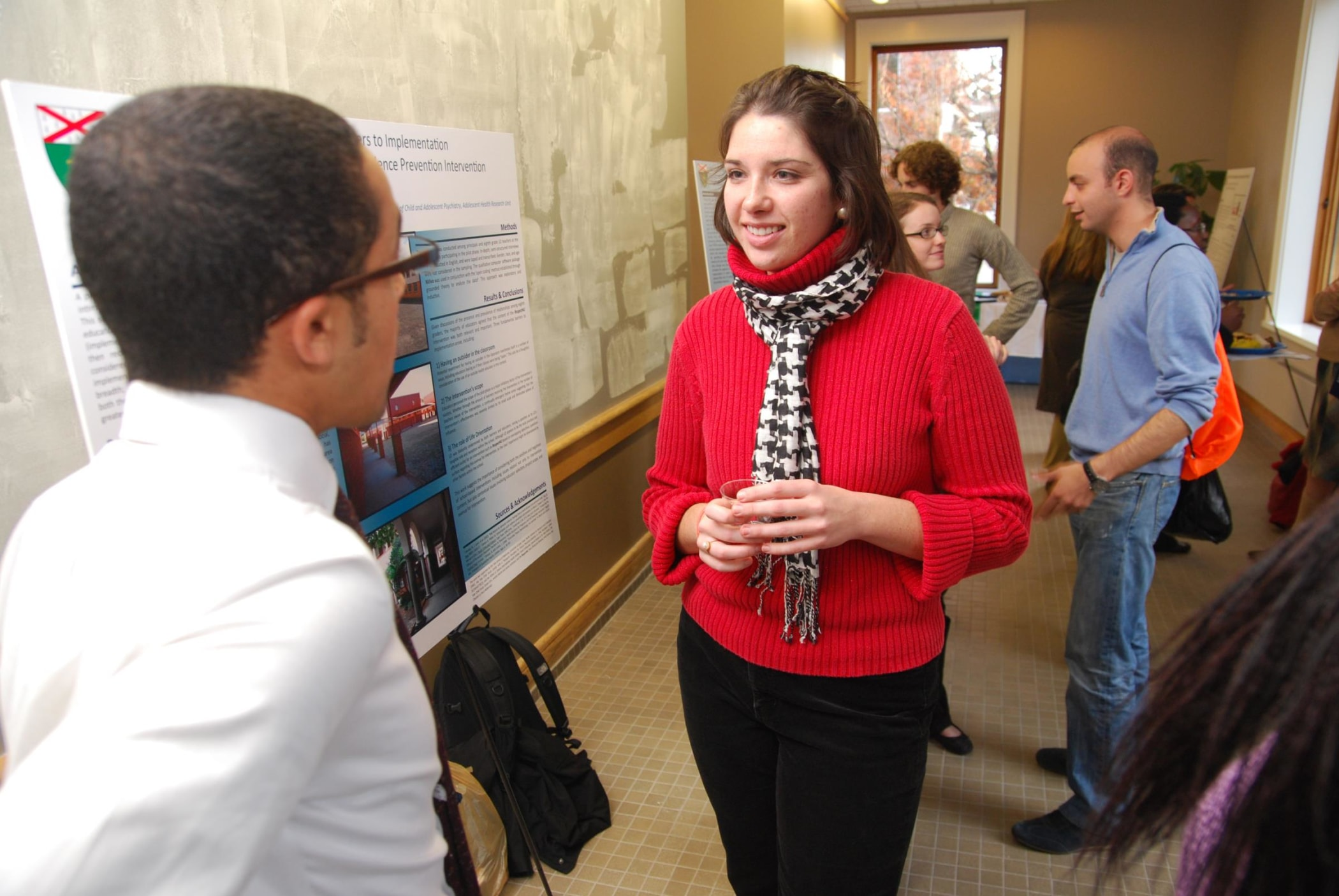 Alexandra Grizas, a public health student, attended the poster session in October.