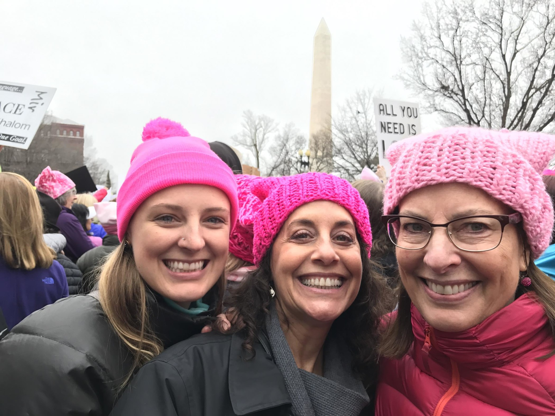 Libby Cummings, left, attended the march with friend Tricia Naddaff, and her mother, Debbie Mann.