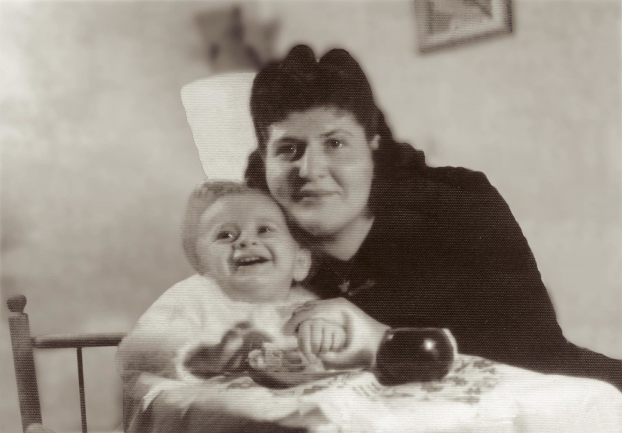 Schlessinger with his mother