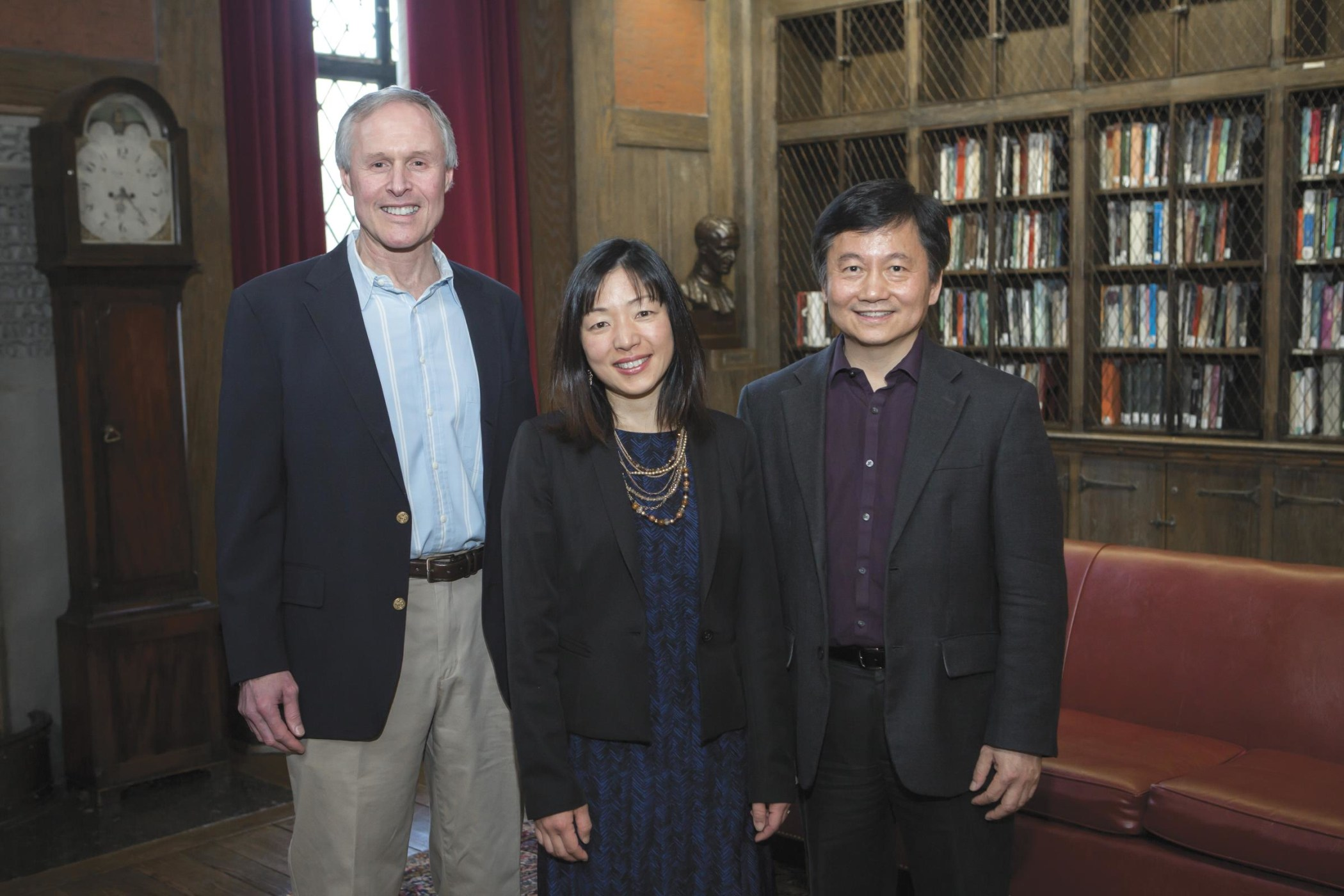 (l–r): David Schatz, Akiko Iwasaki, and Haifan Lin (and Günter Wagner, not pictured), are School of Medicine researchers elected to the National Academy of Sciences, one of the highest honors that a scientist can receive.