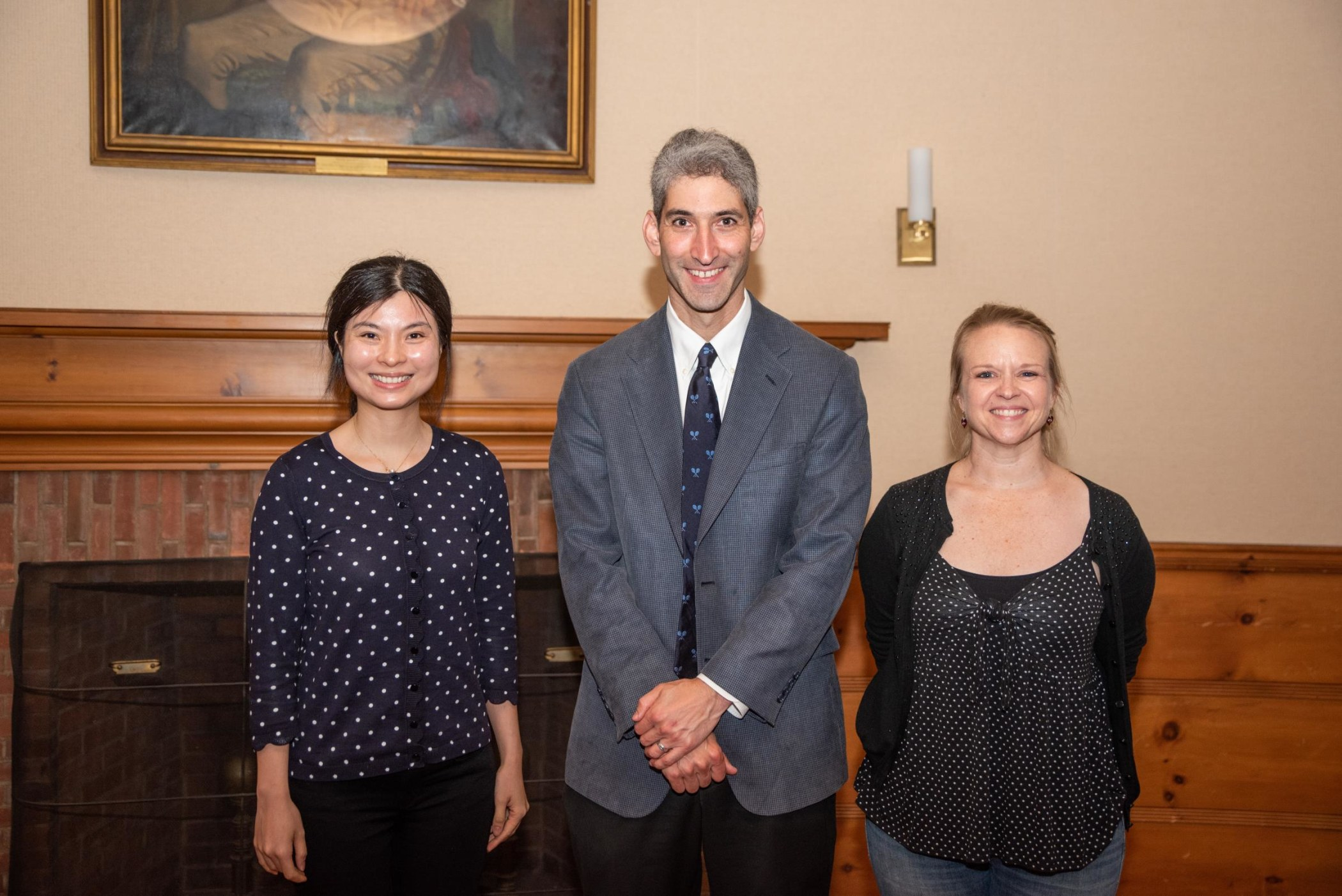 Dr. David Chambers from NCI with YSIS scholars Dr. Kimberly Hieftje and Dr. Yuan Lu