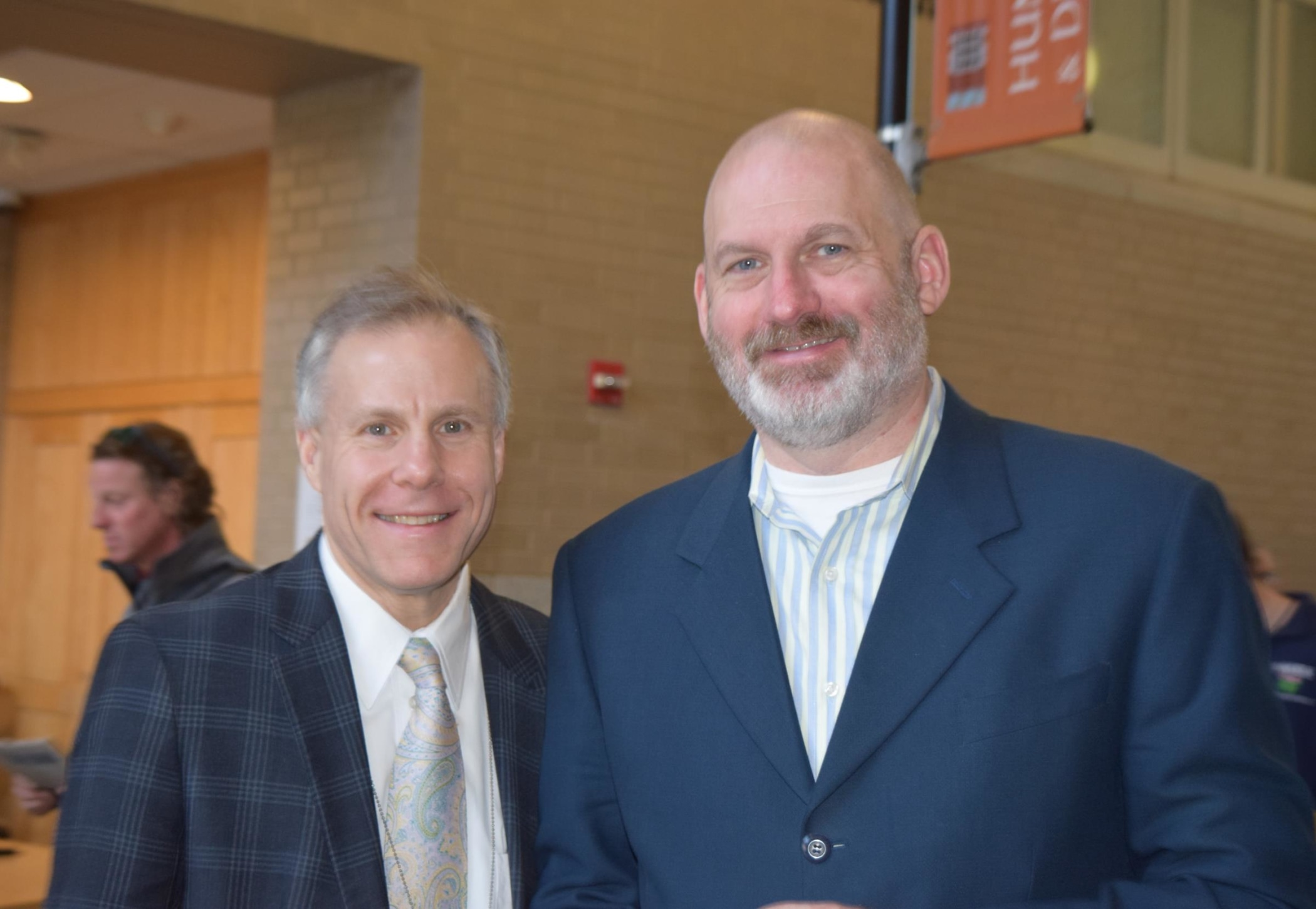 Dr. Steve Bernstein, Director of YCIS, and Dr. Geoff Curran