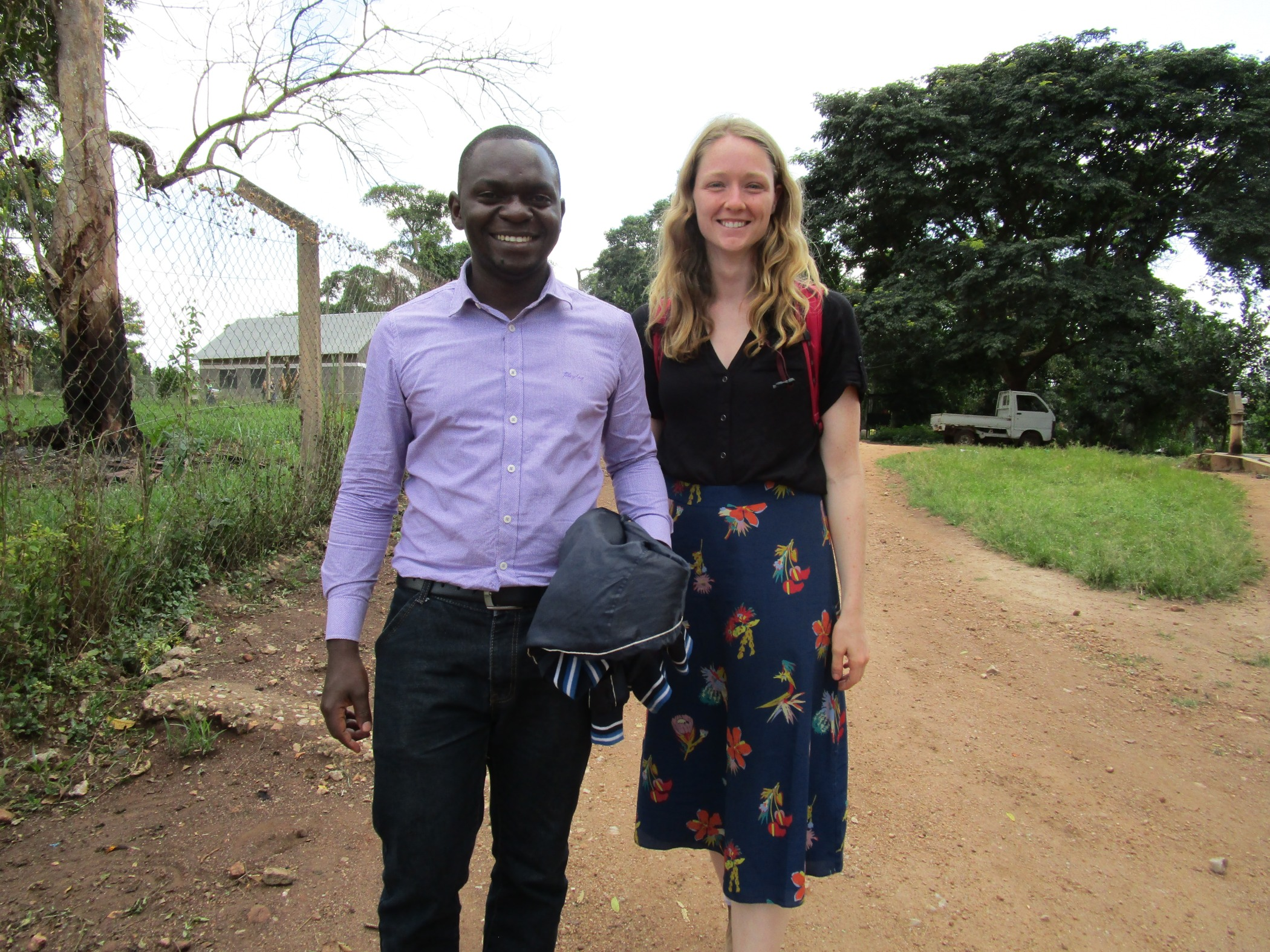 NGN fellows Andrew Tusubira, MPH (left) and Sarah Moor (YSM '22) (right) at ACCESS.