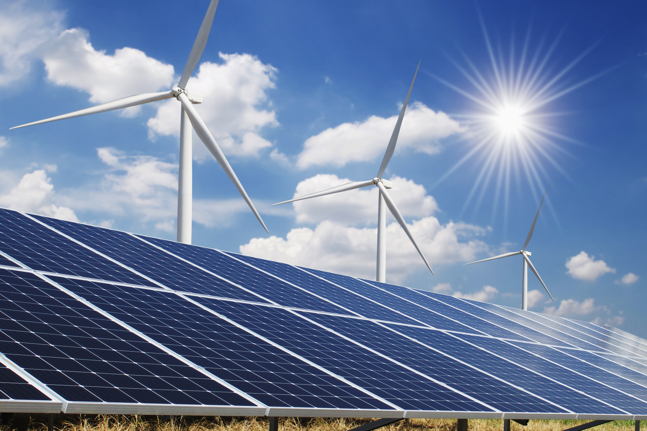 Adopting alternative energy sources such as solar and wind power is one way to combat the climate crisis.