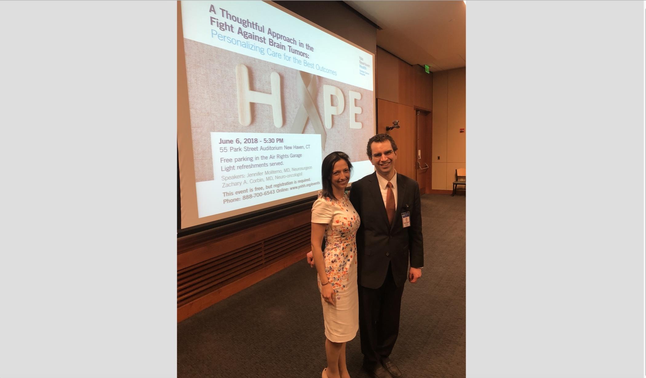Dr. Jennifer Moliterno Gunel and Dr. Zachary Corbin