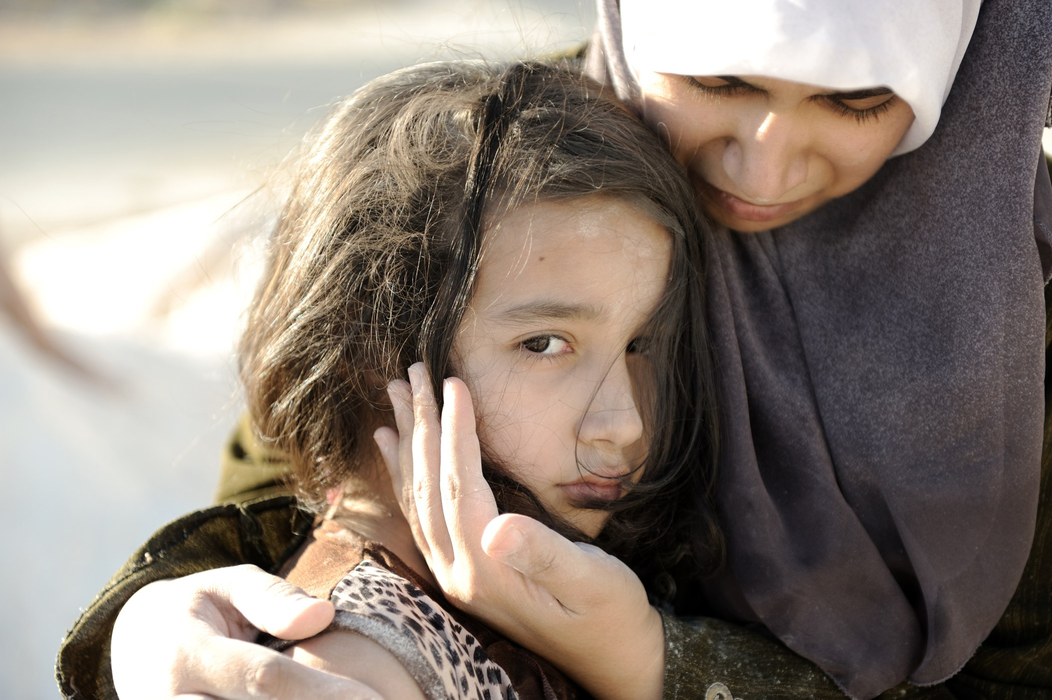 Refugee mother and child