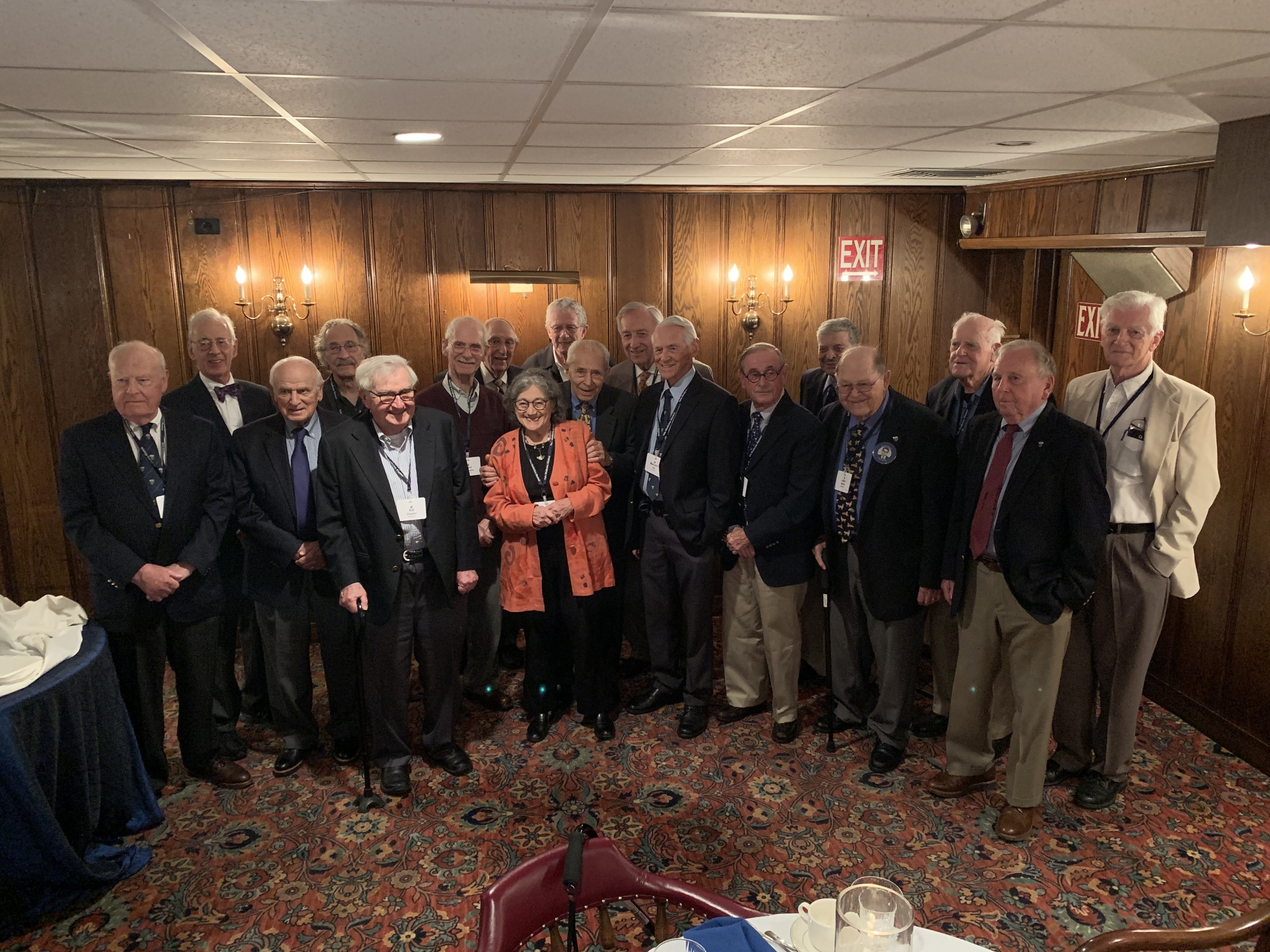 60th Reunion Dinner at Quninnipiack Club, June 1, 2019