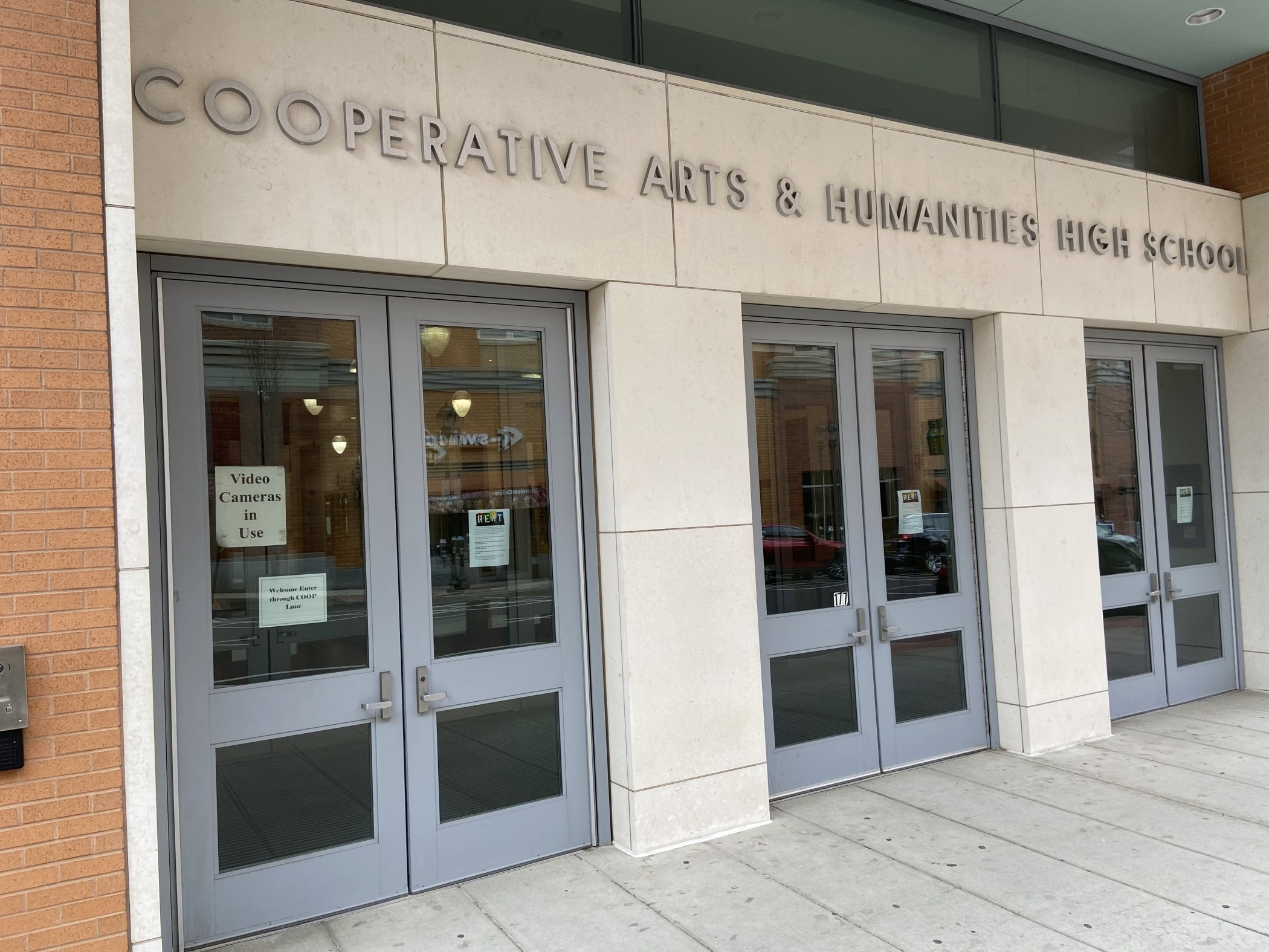 Cooperative Arts & Humanities High School on College Street in New Haven