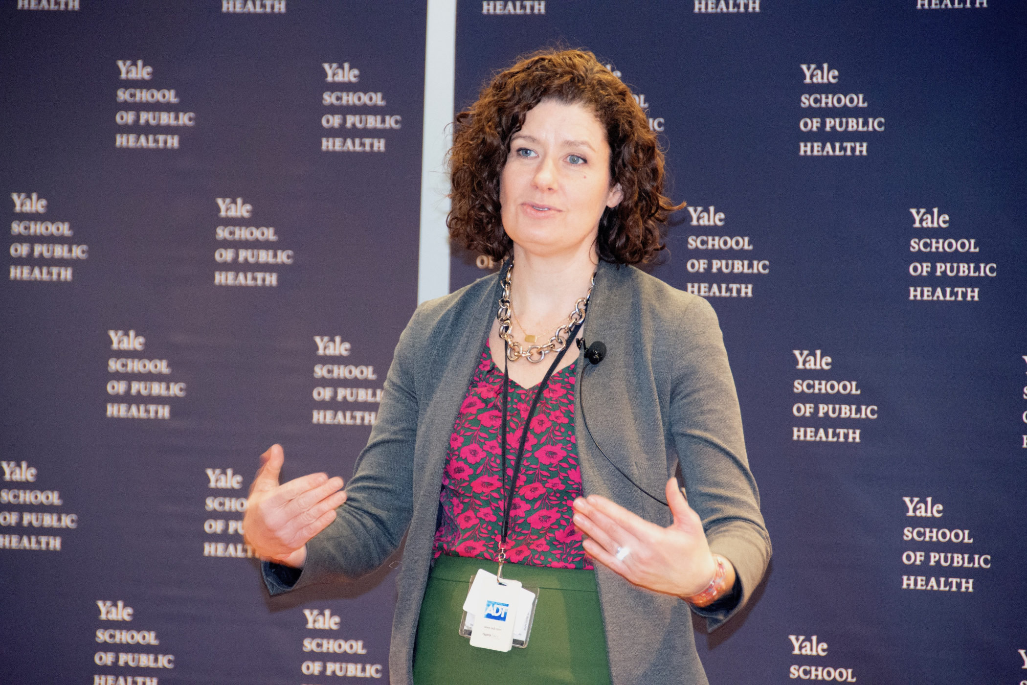 Connecticut Department of Energy and Environmental Protection Commissioner Katie Dykes speaks at the Yale School of Public Health on Feb. 19.
