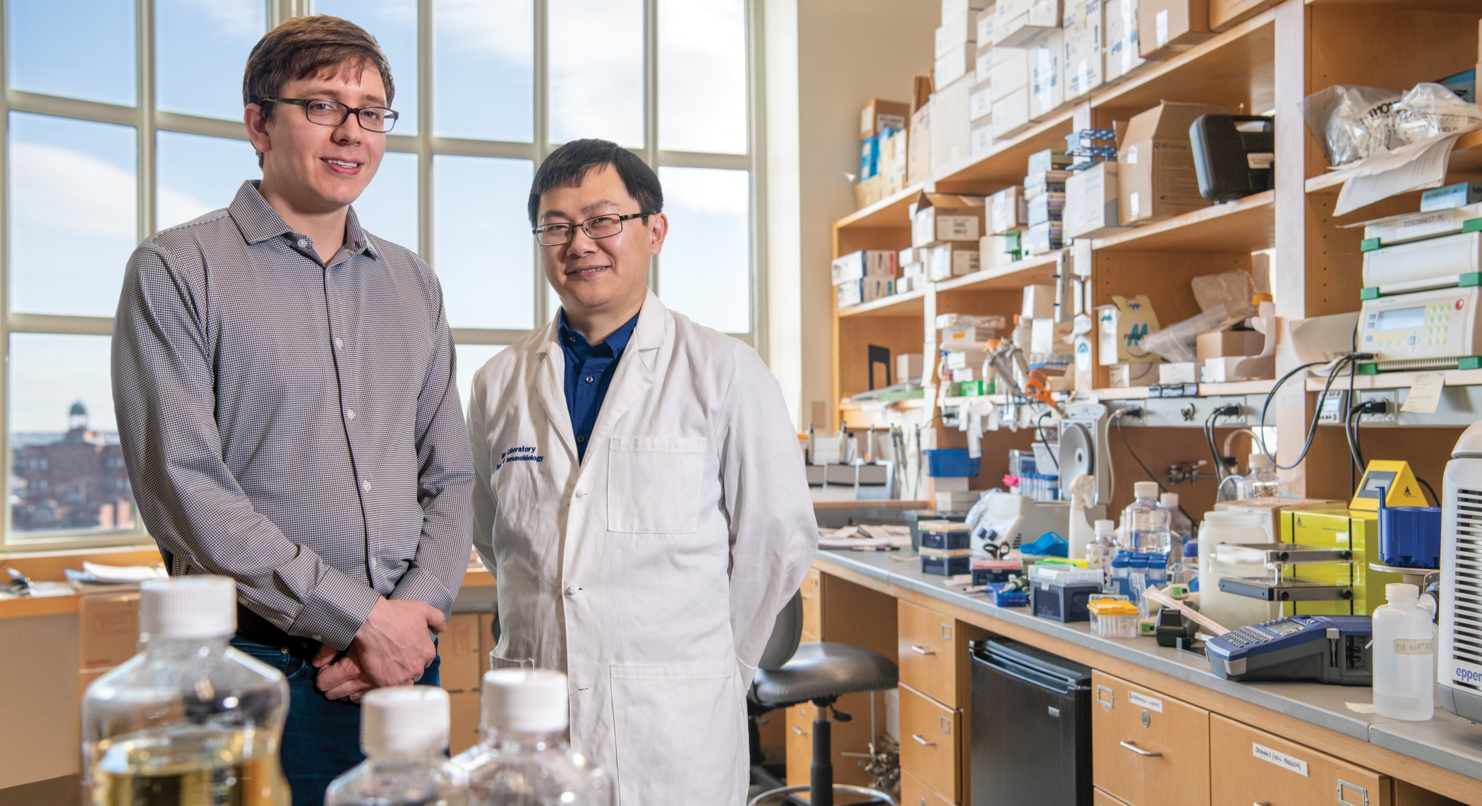 Aaron Ring, MD, PhD and Ting Zhou, PhD