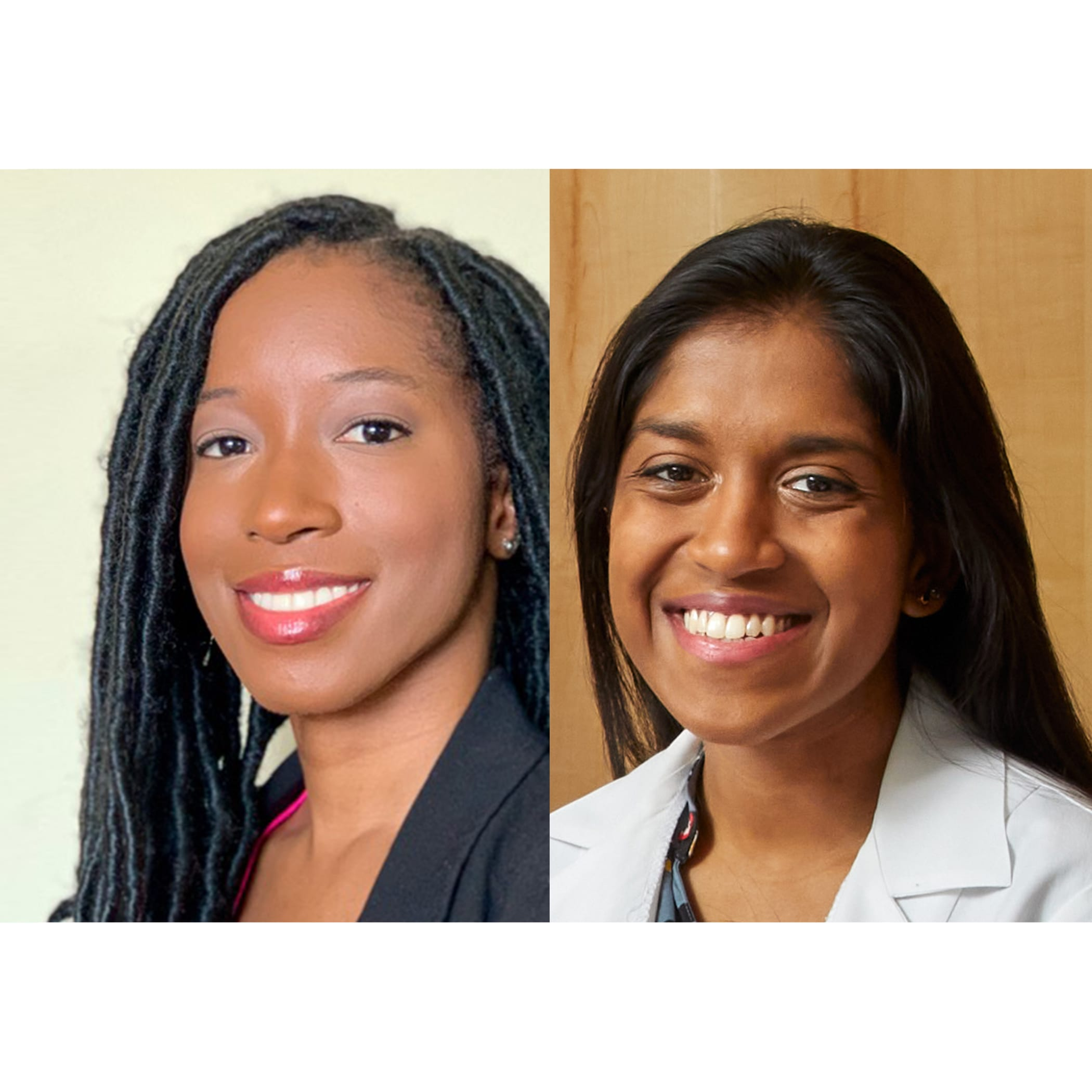 Fourth-year MD students Shaunte Butler and Pavithra Vijayakumar