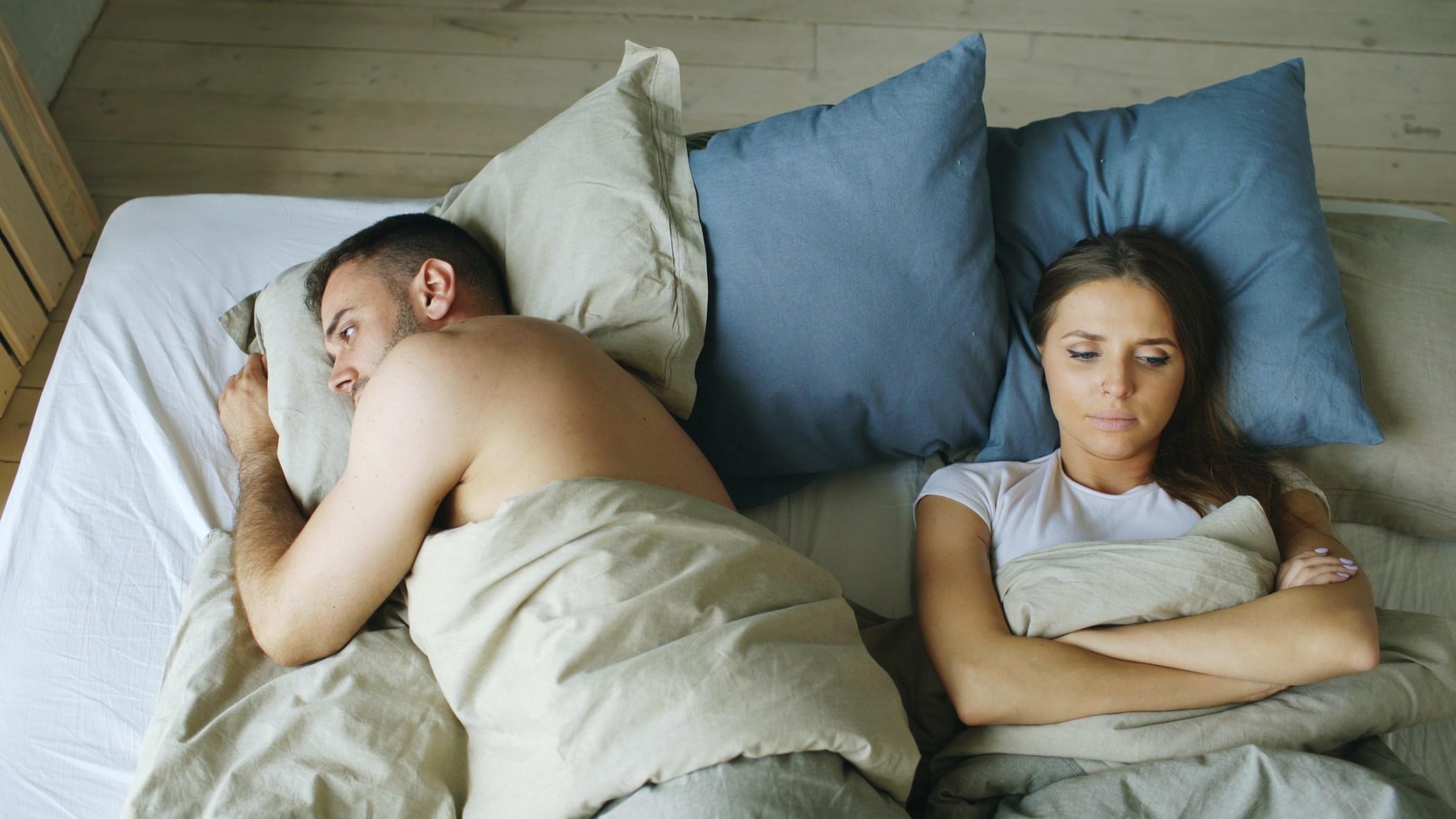 Sleepless couple