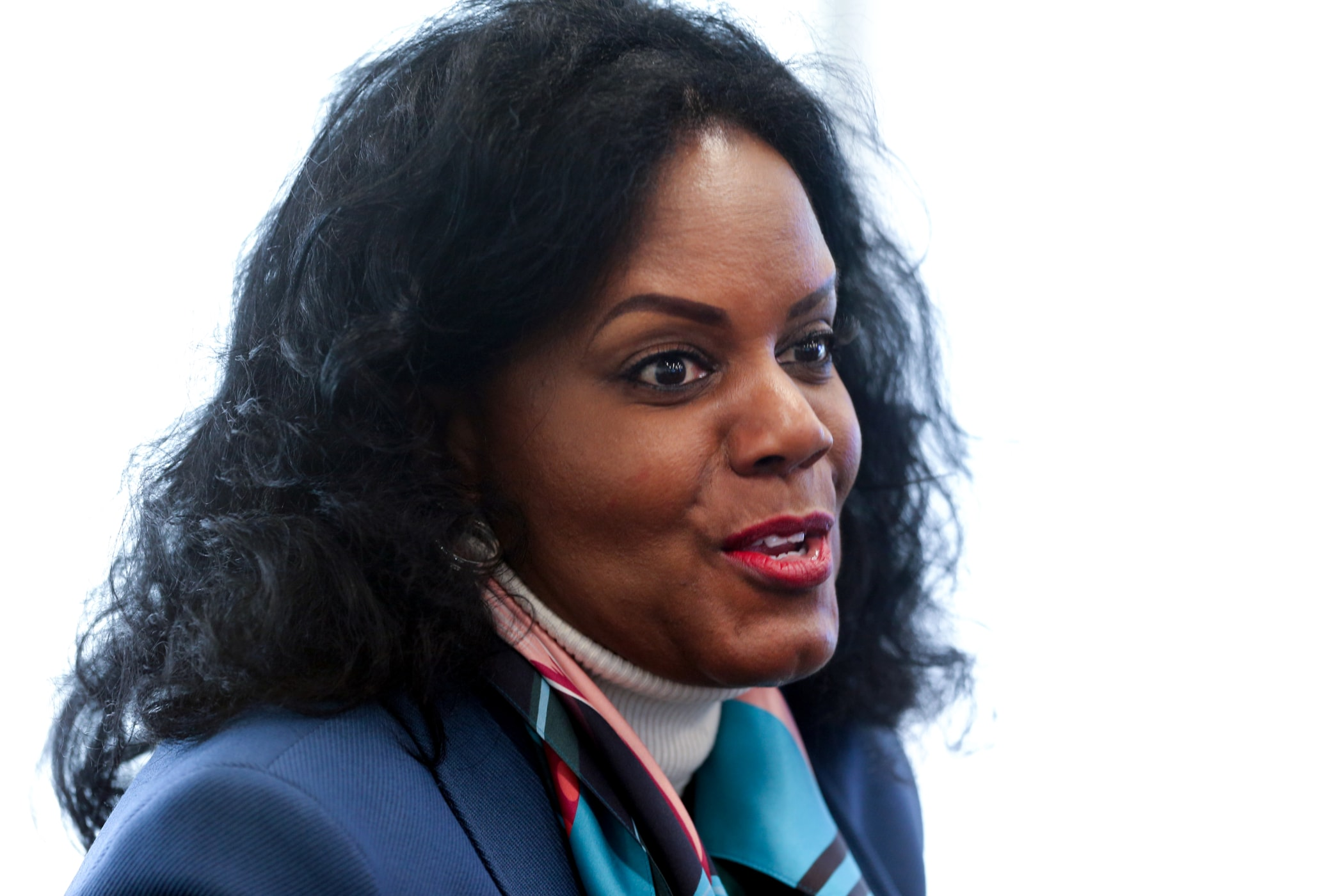 Renee Coleman-Mitchell, commissioner of the Connecticut Department of Public Health, was among the many people attending Dr. Adams lecture. Coleman-Mitchell is an alumna of the school.