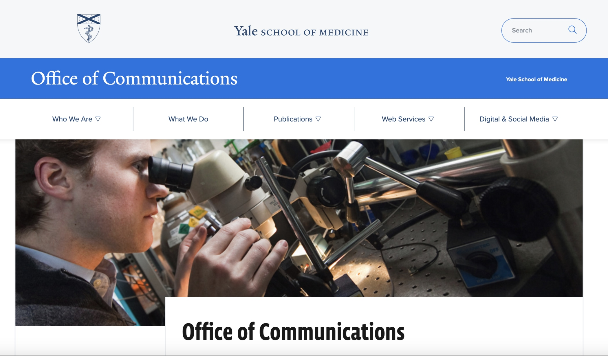 New Office of Communications Website in T4