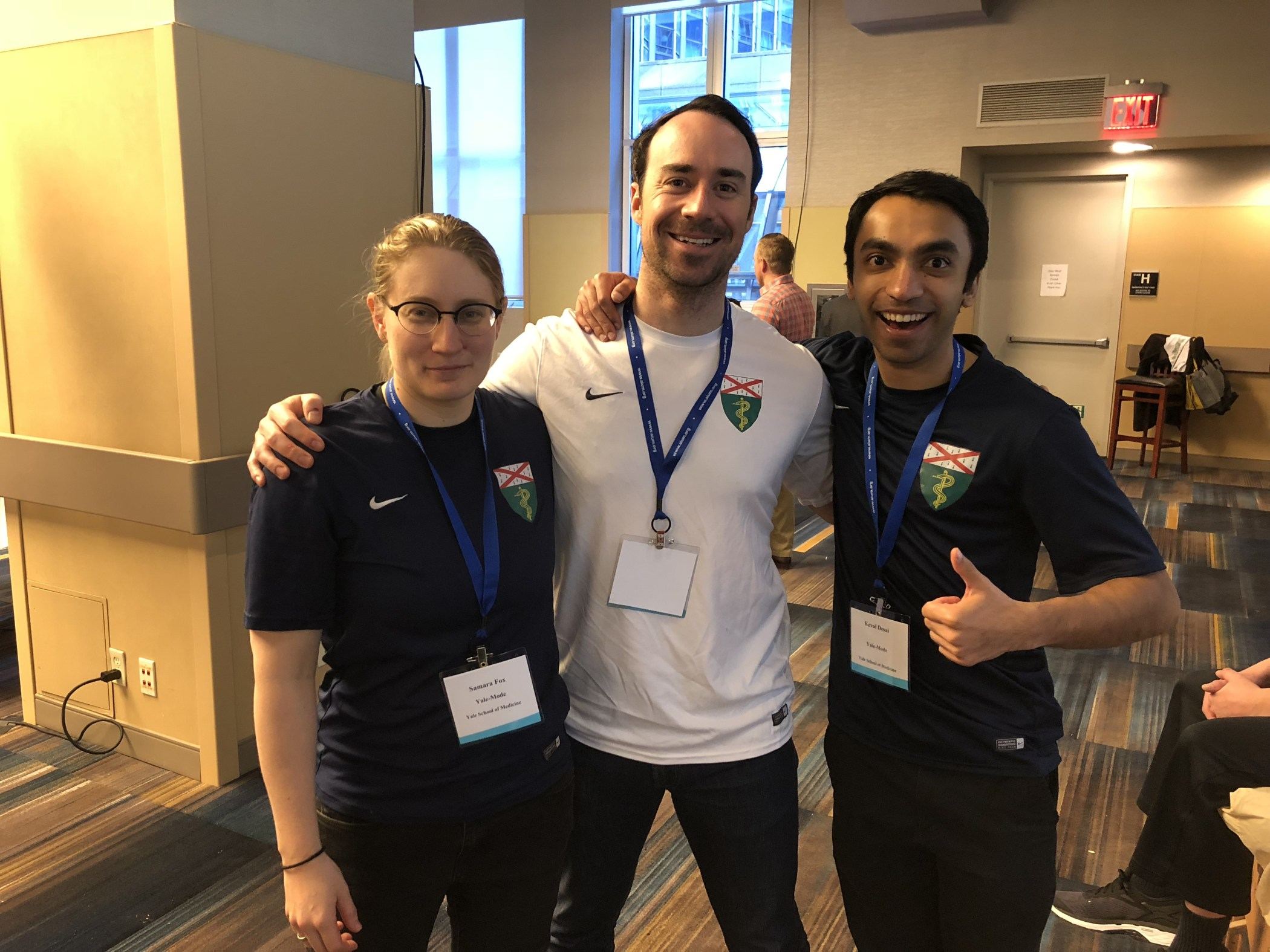 Yale School of Medicine teammates Samara Fox, Michael Boyle, and Keval Desai