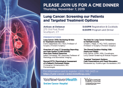image of agenda for lung cancer event