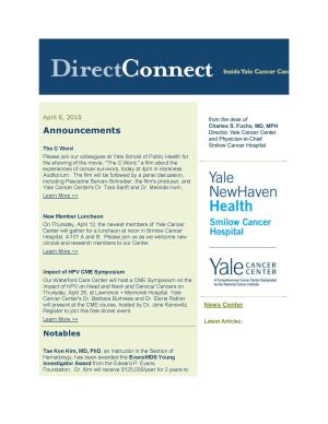 DirectConnect April 6, 2018
