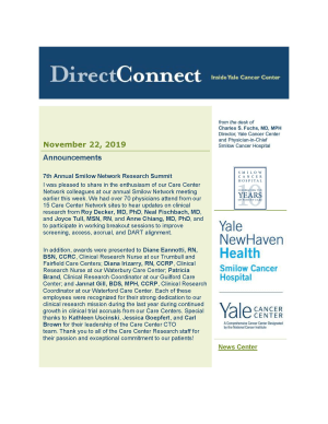 front page of DirectConnect Newsletter