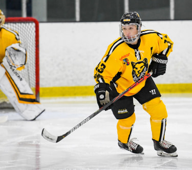 NWHL player in action - photo by Kate Frese