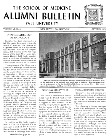October 1958  -  Alumni Bulletin