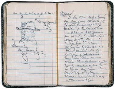 Cushing's 1893 diary includes sketches of the World's Columbian Exposition in Chicago. The Exposition was open on Sundays, despite objections from religious groups, to allow laborers to attend.                     Watch video of Harvey Cushing performing