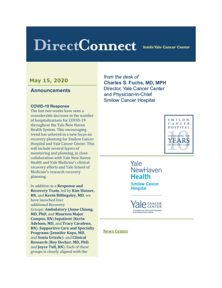 cover of May 15 issue of DirectConnect