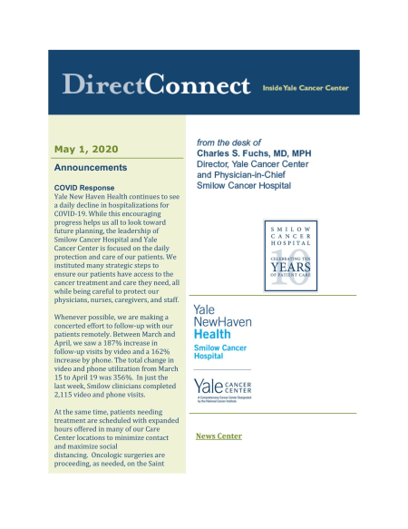 cover of May 1st issue of DirectConnect