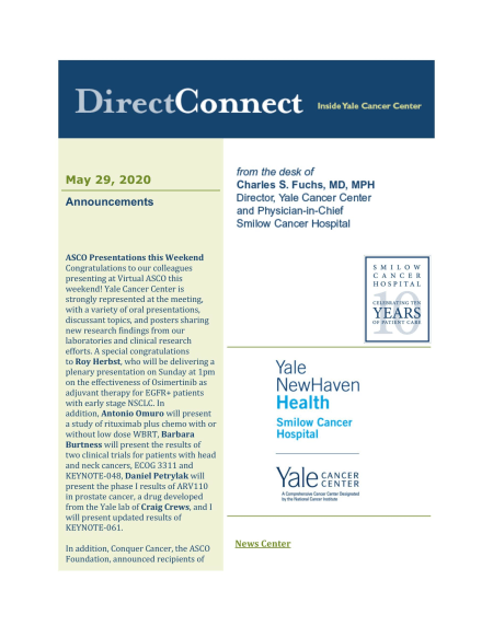 cover of May 29 issue of direct connect