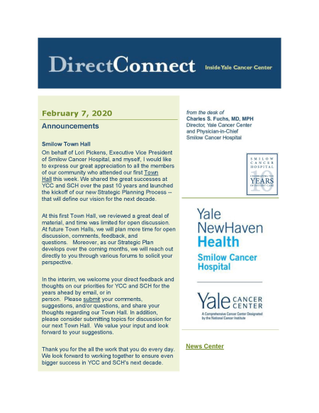 cover to February 7th issue of DirectConnect