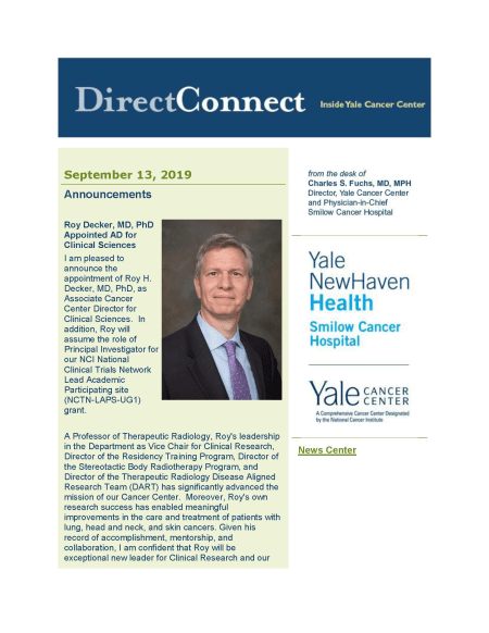 cover of the September 13th issue of directconnect newsletter