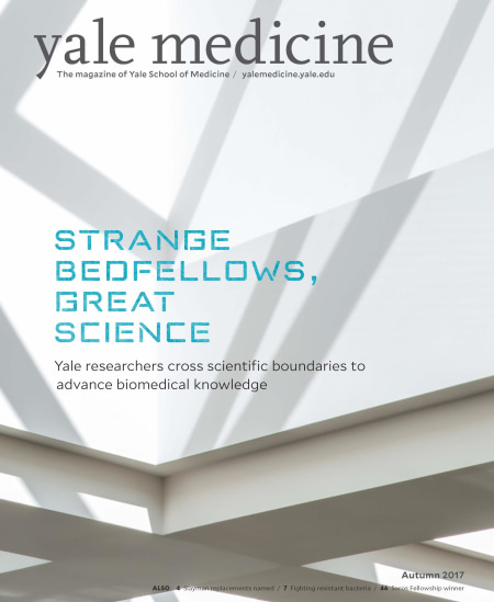 Yale Medicine Magazine 2017: Strange Bedfellows, Great Science—Yale researchers cross boundaries to advance biomedical knowledge