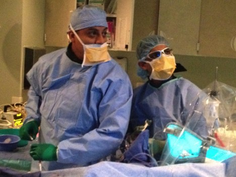 Interventional Cardiology staff during a procedure