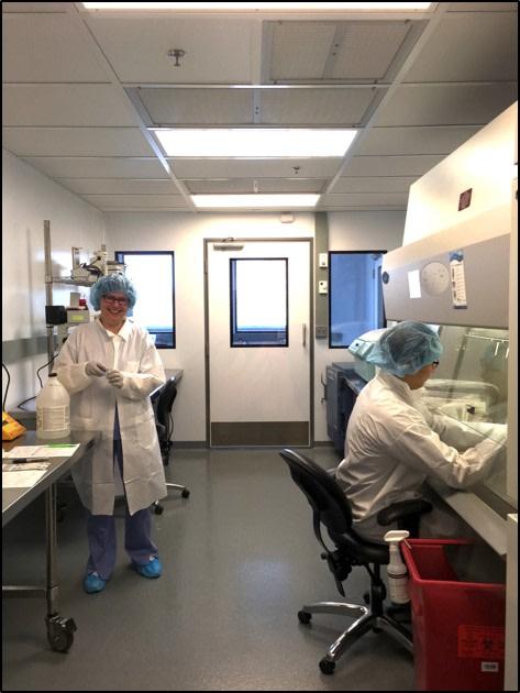 Marina Komarovskaya and Stephen Kim shown in the lab