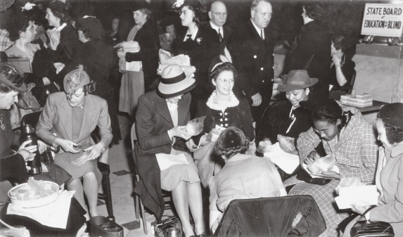 The fight to legalize birth control had a long history in Connecticut. In 1941 supporters of birth control took a lunch break during a legislative hearing in Hartford.