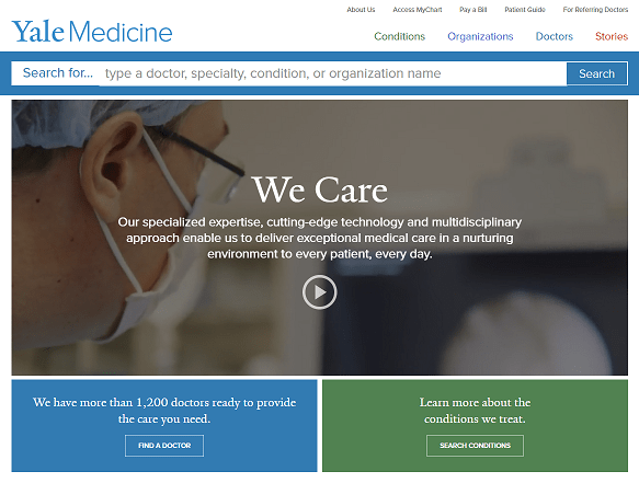 Yale Medicine Home Page