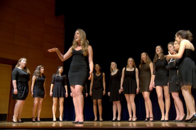 The New Blue, the oldest female a cappella group at Yale, performed at the Grannum Jamboree and Talent Show in February.