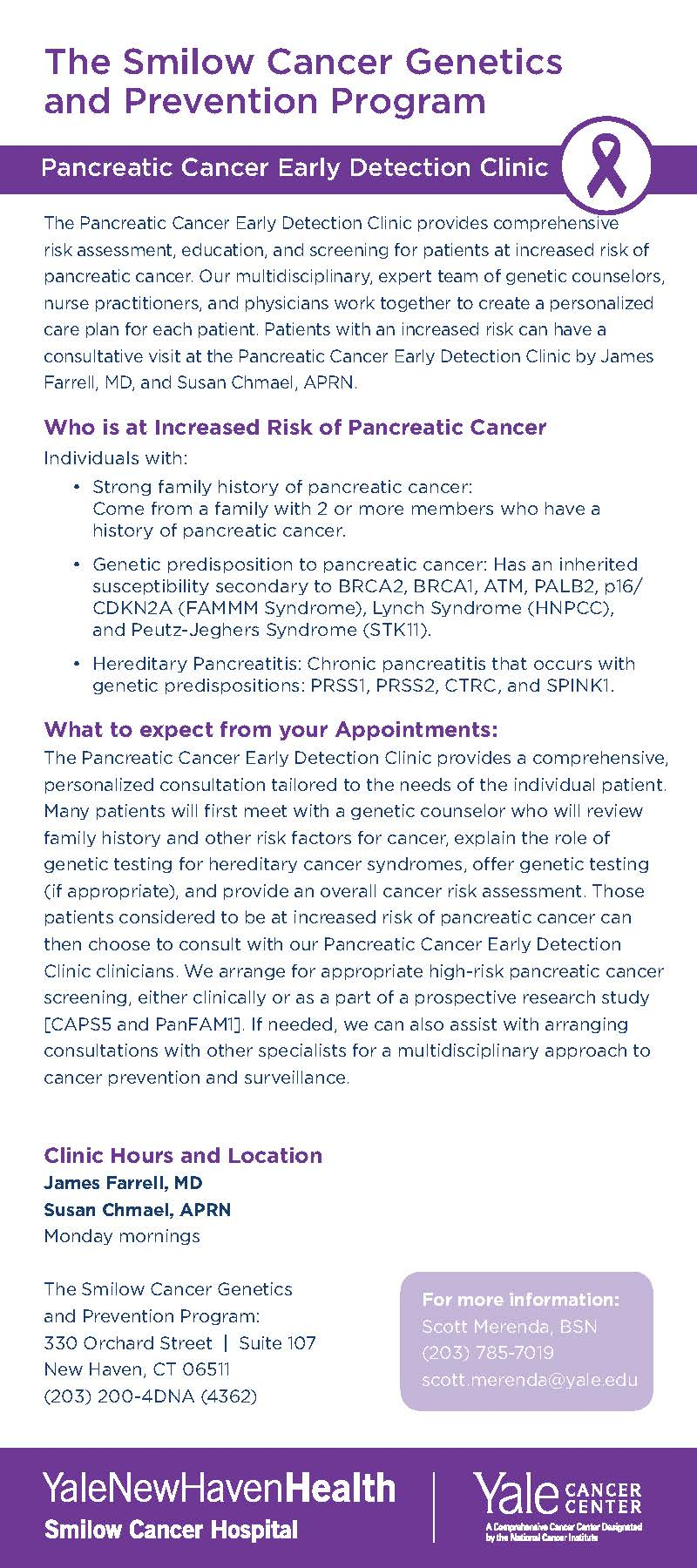text for the pancreatic clinic brochure