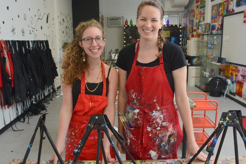 Instructors Laina Pauker and Rachel Rasfeld guided the class through the painting process.