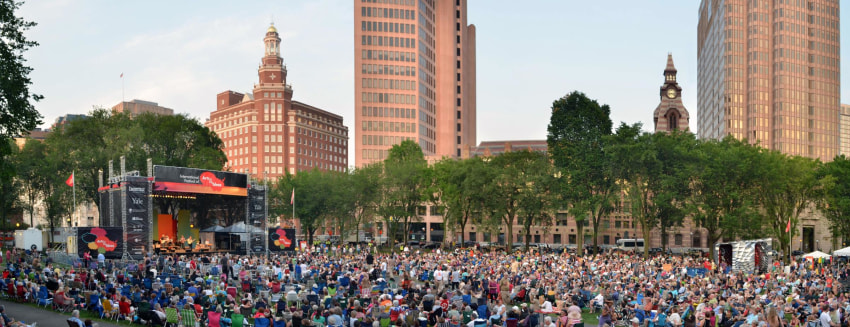 Photo of People attending a concert on the New Haven Green