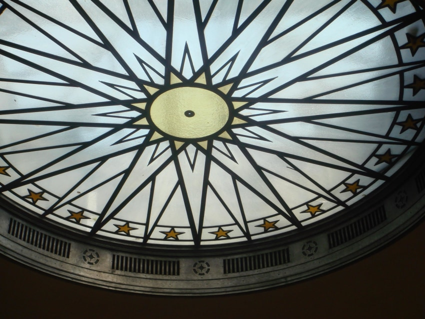 Star on Sterling Hall Ceiling