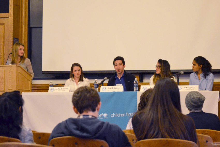 Yale student panel at the Yale UNICEF 4th Annual Conference on Child Rights