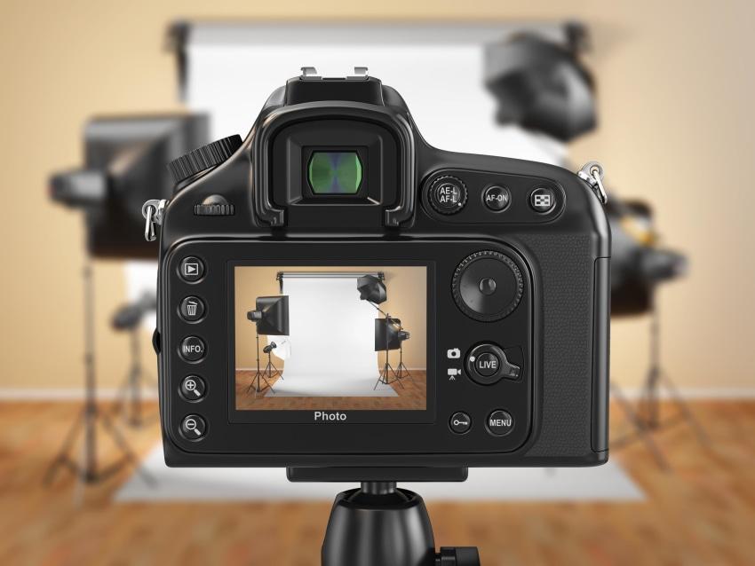 Photo shoot stock photo